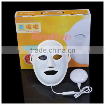 Red 470nm Factory Supplier!!!3D Vibration Photon Electrical Facial Mask Led Facial Light Therapy Machine Magic Skin Rejuvenation Led Masks Led Pdt Bio-light Therapy