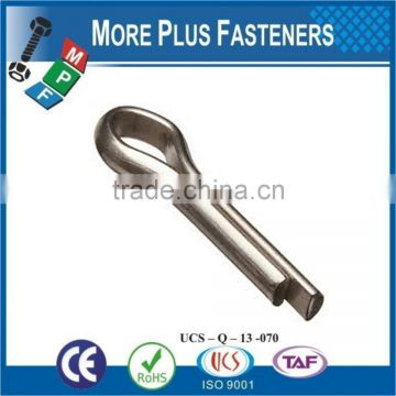 Made In Taiwan Cotter Pin Inch Split Cotter Pin Stainless Steel Cotter Pin
