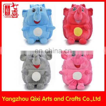 Top quality cute animal backpack kids plush elephant backpack