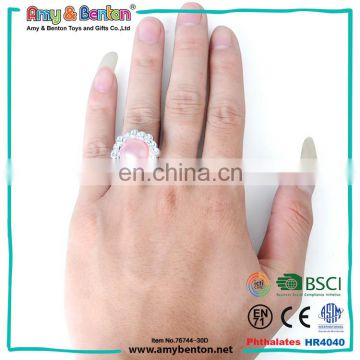 Plastic graduation party decoration joker wedding rings for baby toy