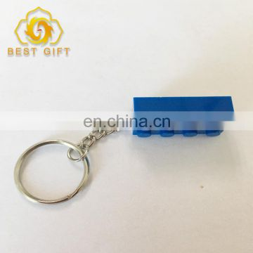 Plastic Custom Color Design LEGO Keychain With Ring