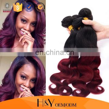 More beautiful if you wear!Ombre color 1B/99J black woman hair qibla direction China hair factory hengyuan hair Whosales Alibaba