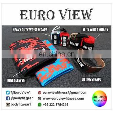 Sublimation Neoprene Knee Sleeves Heavy Duty Wrist Wraps Lifting Straps With Custom Logo Design Free Samples Gym Weight Lifting