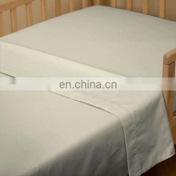 100 cotton bleached hotel/hospital single plain bed sheet