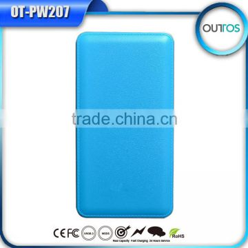 Good quality real 12000mah portable universal double usb power bank