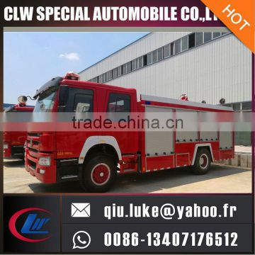 5000Liters water tank fire truck, fire fighting truck