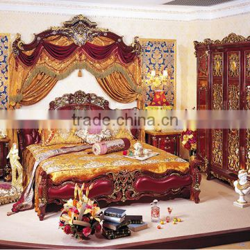 2010f23e19ac Antique Classic Red Color Solid Wood Wedding King Size Bed, Wedding Bedroom  Furniture(MOQ=1 SET) of Brand furniture from China Suppliers - 142066370