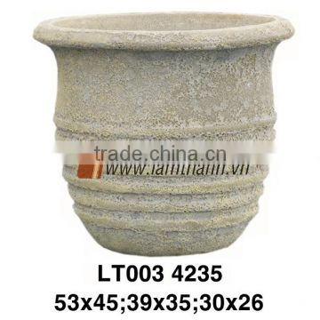 Vietnam Streaky Decorative Sand Blast Pottery For Home And Garden