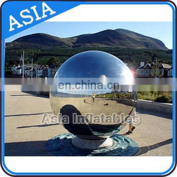 Clear mirror balloon can reflect the views for show or advertising with pump