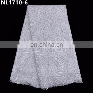 High quality african lace fabric french sequins net lace fabric african wedding tulle lace fabric 5 yards /piece