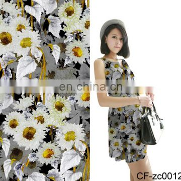 China Factory Digital Print Rayon Jersey Knitted Fabric For Apparel