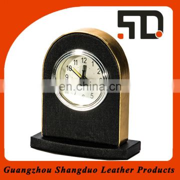 Quality Supplier Excellent Handmade Economic Leather Desk Clock