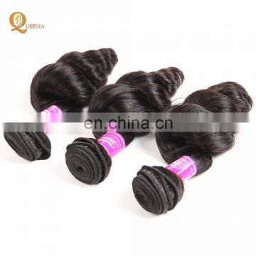 8A Mink Brazilian Hair Unprocessed 3 Bundles with 360 Frontal Loose Wave Hair Weave Atlanta