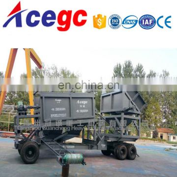150-200T/H Mobile gold washing plant machine with vibrating feeder