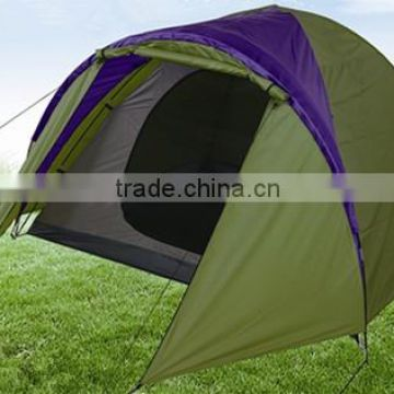 One room 3 person tent with flysheet ventilated outdoor camping family tent