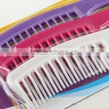 Staggered comb with hanging hole/3PC Plastic hair brush