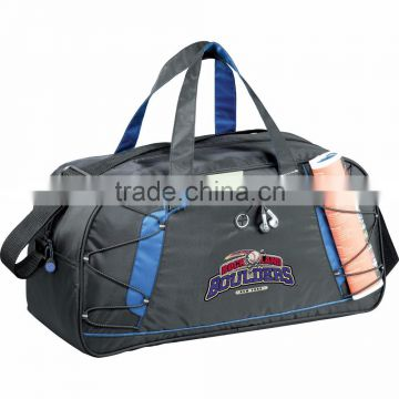 "Shockwave 19"" Sports Duffel Bag - has elastic bungee cords, pen loop and comes with your logo."