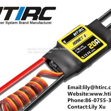 HTIRC Hornet Brushless esc With 20A 2-4S Brushless ESC and   RC UAV  speed controller esc