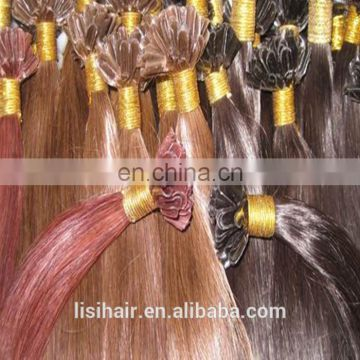 Good Quality Keratin Glue Double Drawn Remy Product Russian Remy Nail Tip Hair Extensions