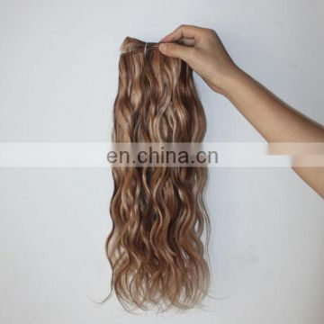 Alibaba China factory human hair extension tangle&shedding free mixed color hair weave extensions