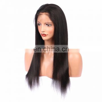 Youth beauty hair 2017 best saling indian human virgin hair 360 lace front wig in silky straight cuticle aligned hair