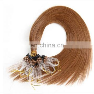 Silk straight micro ring hair extensions
