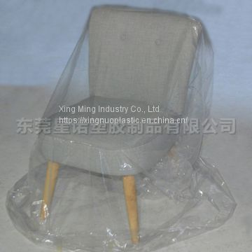 Factory PE Plastic Clear Chair Cover Folding Moving Protective Bag Furniture Cover