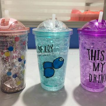 650ml big capacity acrylic drink cup with lid