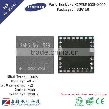 Genuine original K3PE8E400B-XGCO FBGA168 0 75G x32bit LPDDR2 Flash Memory  RAM