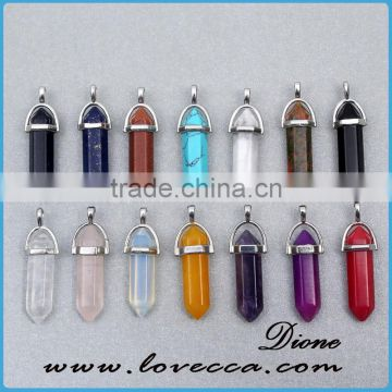 Natural Quartz Crystal Pendant, Druzy Gem Stone Pendant Charms