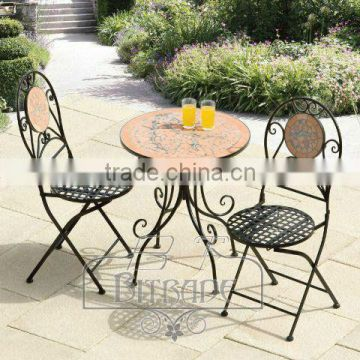 Garden furniture set table and two Chairs