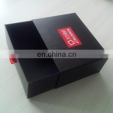 Discount! Strong Rigid Cardbaord Paper Drawer Design Storage Gift Paper Nice Packing Box For Shoes With Ribbon Handle