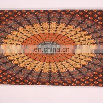 Indian mandala peacock decoration tapestry for bulk buyers at cheap price beautifully peacock wall hanging perfect home decor