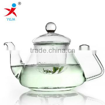 Heat resistant Transparent borosilicated glasswares tea pot coffee pot