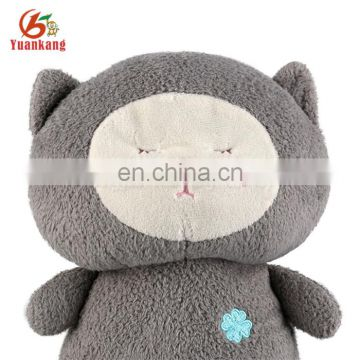 Promotional sitting stuffed toy thinking plush cat with tag-35cm