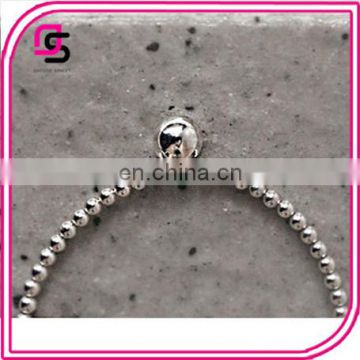 The Korea of version of simple silver rubber hollow bead bracelet agent