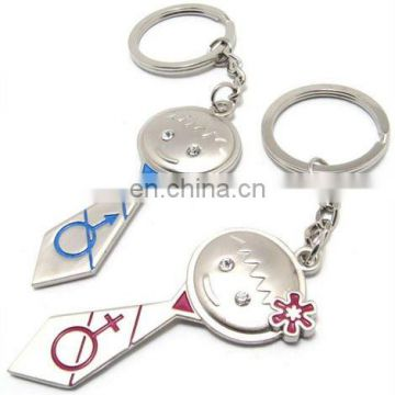 Tie Design Girl and Boy Lover Keychain