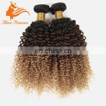 Cheap Ombre Kinky Curly Hair Weft 3 Pcs lot Grade 7A Virgin Human 1B 4 30 Malaysian Hair Virgin Kinky Curly Hair