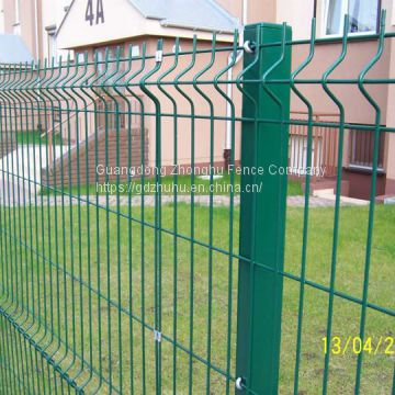Poweder coated bending wire 3D fence design amusement park fencing
