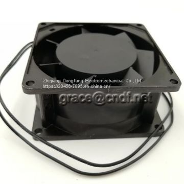 CNDF industry exhaust fan cooling fan with low noise and high speed 80x80x38mm 220/240VAc  2200/2700rpm TA8038HSL-2