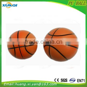 High quality children toy Soft anti stress ball,white Basketball PU foam Ball