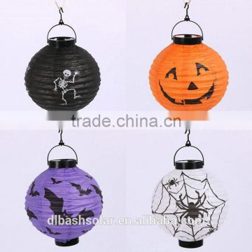 Halloween lanterns of pumpkin lantern paper collapsible paper lantern electric lanterns electric string paper lantern