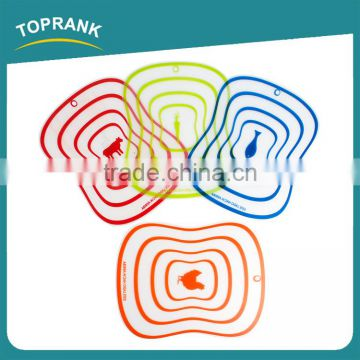 Toprank Custom New PP Folding Antibacterial Non-Slip Thin Plastic Kitchen Chopping Block Vegetable Cutting Board