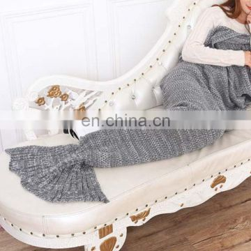 2016 newest design crochet mermaid tail blanket leisure knit pattern blanket