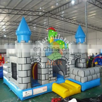 Latest design castle inflatable cheap dinosaur gray jumping bouncer inflatable castle house for sale
