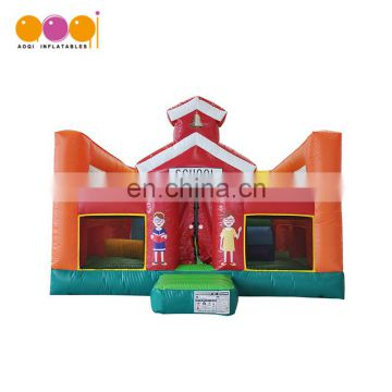 Indoor children playhouse school inflatable fun city playground for home