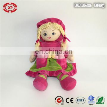 Girl doll plush pink soft stuffed custom quality toy