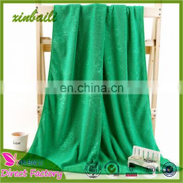 China Supplier Solid Color Embossed Microfiber Beach Towel