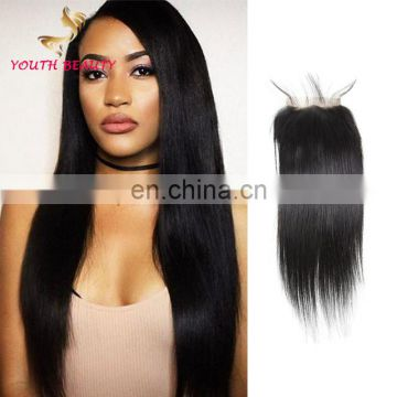 Wholesale price 2018 100% INDIAN human virgin hair LACE CLOSURE in silky straight wholesale price