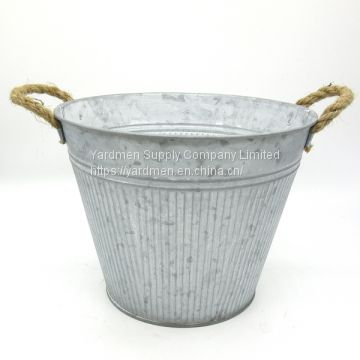 2018 Cheap price metal flower bucket garden pot
